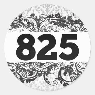 825 PEGATINA REDONDA