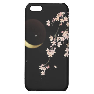 8278 Cherry blossoms night sliver moon vector iPhone 5C Case