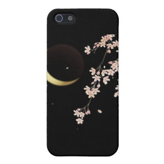 8278 Cherry blossoms night sliver moon vector Covers For iPhone 5