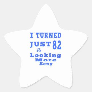 82 birthday designs star sticker