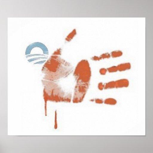82) Blood Stipes: Flag Print - Poster