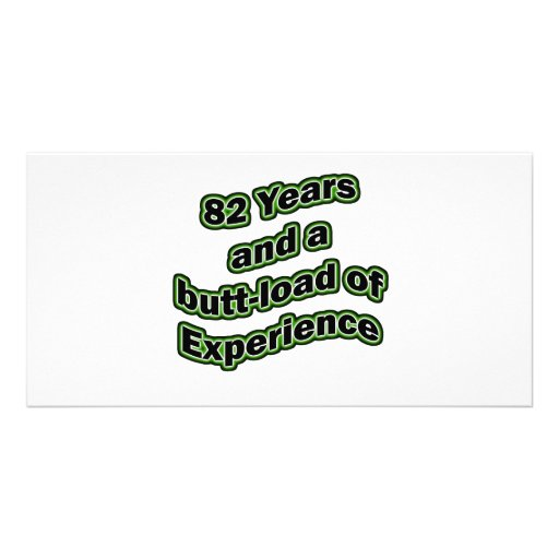 82 butt-load photo greeting card