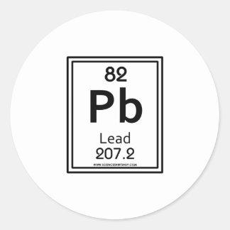 82 Lead Classic Round Sticker