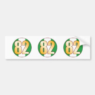 82 NIGERIA Gold Bumper Sticker