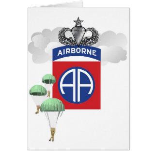 82.o Aerotransportado, paracaidistas, alas mayores Tarjetón