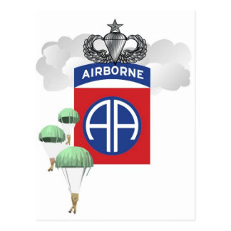 82.o Aerotransportado, paracaidistas, alas mayores Postal
