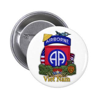 82.o botón de la guerra de Vietnam de la división  Pin Redondo De 2 Pulgadas