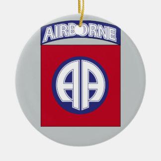 82.o División aerotransportada - servicio del Adorno Navideño Redondo De Cerámica