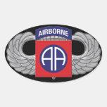 """82.o División aerotransportada """"todo americana """" Calcomania Óval"""