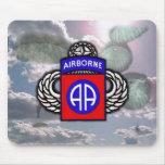 82.o Mousepad de la división aerotransportada Tapete De Ratón