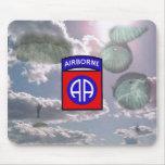 82.o Mousepad de la división aerotransportada Tapete De Raton