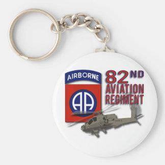 82.o Regimiento Apache de la aviación Llavero Redondo Tipo Pin