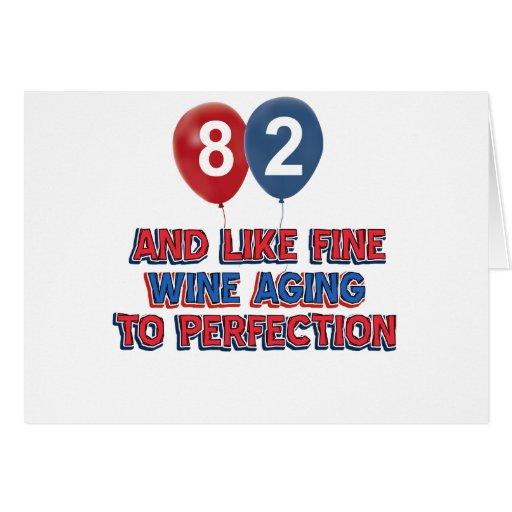 82.os diseños del cumpleaños tarjeta de felicitación