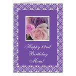 82.os rosas del cumpleaños (edad del cambio) tarjeta de felicitación