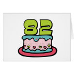 82 Year Old Birthday Cake Greeting Card