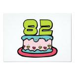 82 Year Old Birthday Cake 5x7 Paper Invitation Card