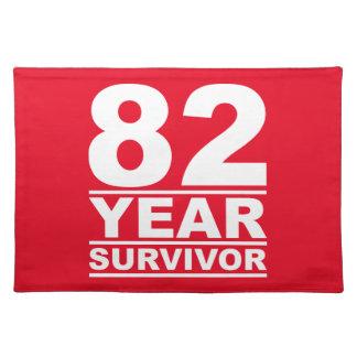 82 year survivor cloth placemat