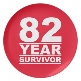 82 year survivor plate