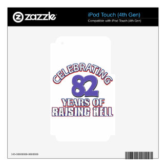 82 years of raising hell iPod touch 4G decal