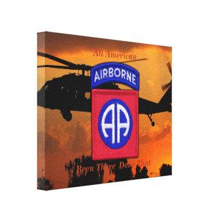 82nd ABN Airborne Fort Bragg veterans vets Canvas Print