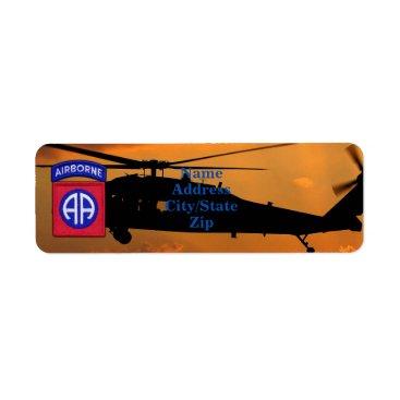 82nd ABN DIV Airborne Division Fort Bragg Veterans Label