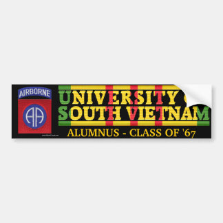 82nd Abne Div.- U of South Vietnam Alumnus Sticker