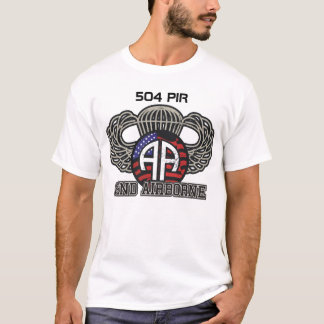 82nd Airborne 504 PIR Paratroopers Fort Bragg T-Shirt