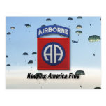 82nd airborne army postcard division patches vet