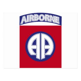 82nd Airborne - Combat Service Badge Postcard