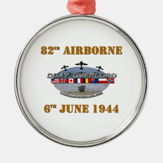 82nd Airborne Division 6th June 1944 Metal Ornament