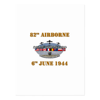 82nd Airborne Division 6th June 1944 Postcard