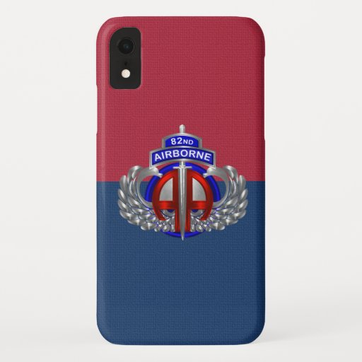 82nd Airborne Division Airborne Colors iPhone XR Case