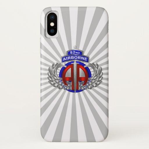 82nd Airborne Division Airborne Dagger Sun Rays iPhone X Case