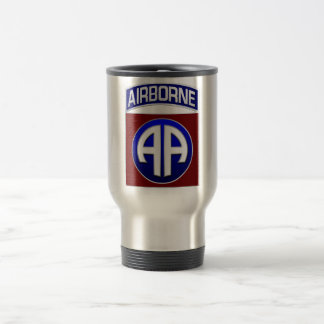 82nd Airborne Division All American Combat Patch Travel Mug