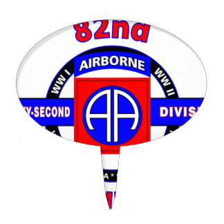 "82ND AIRBORNE DIVISION ""ALL AMERICAN"" DIVISION CAKE TOPPER"
