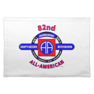"""82ND AIRBORNE DIVISION """"ALL AMERICAN"""" DIVISION CLOTH PLACE MAT"""