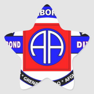 """82ND AIRBORNE DIVISION """"ALL AMERICAN"""" DIVISION STAR STICKERS"""