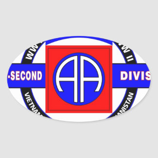 """82ND AIRBORNE DIVISION """"ALL AMERICAN"""" DIVISION STICKERS"""