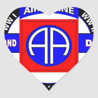 """82ND AIRBORNE DIVISION """"ALL AMERICAN"""" DIVISION HEART STICKER"""