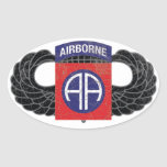 """82nd Airborne Division """"All American"""" - RUSTIC Oval Sticker"""