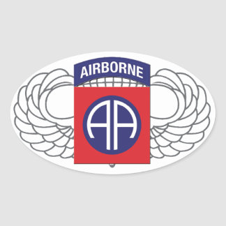 """82nd Airborne Division """"All American"""" Sticker"""