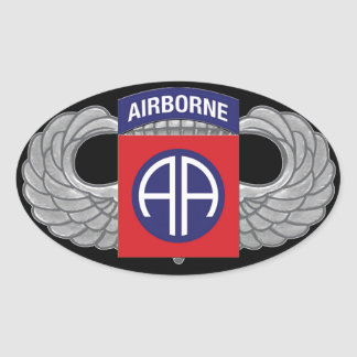 """82nd Airborne Division """"All American"""" Oval Sticker"""