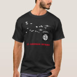 """82nd Airborne Division Black T-shirt<br><div class=""""desc"""">82nd Airborne Division Black T-shirt with drop in background and division patch</div>"""