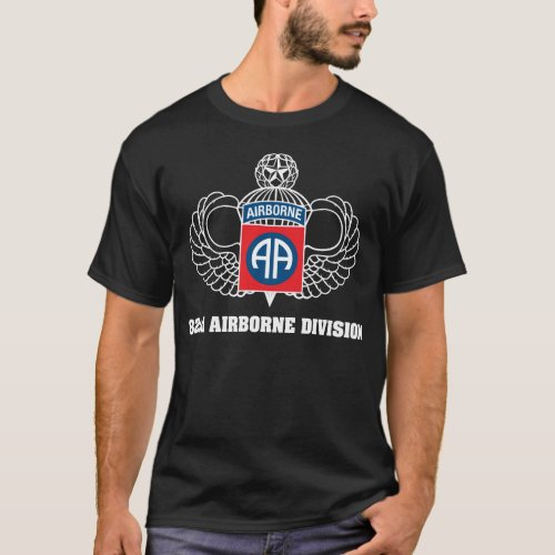 82nd Airborne Division dark t_shirt