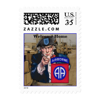 82nd airborne division iraq patch postage stamps
