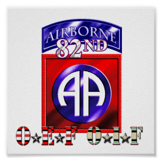 82nd Airborne Division OEF OIF Poster