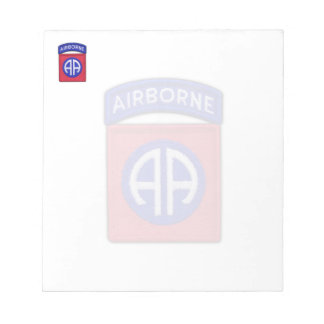82nd airborne division veterans patch Notepad