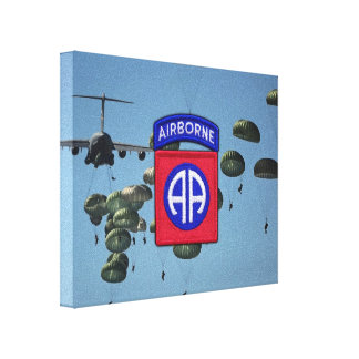 82nd airborne division veterans wrapped canvas stretched canvas prints