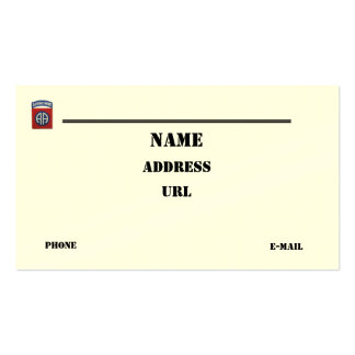 82nd Airborne Division vets patch business Card Pack Of Standard Business Cards