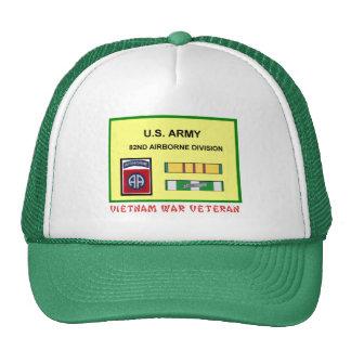 82ND AIRBORNE DIVISION VIETNAM WAR VET TRUCKER HAT